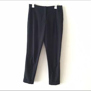 Black, peated skinny trousers dress pants -F21