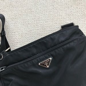 b5e475de14 Prada Bags - Prada black large nylon crossbody bag