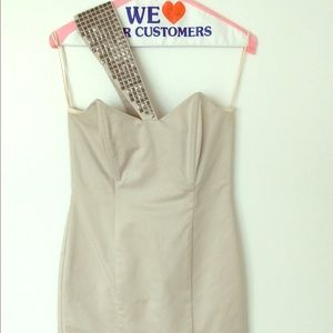 Mason Dresses & Skirts - Mason mini dress with one shoulder cover up size 2