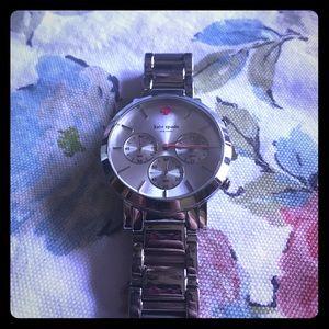 Kate Spade Silver Tone Gramercy Grand Watch