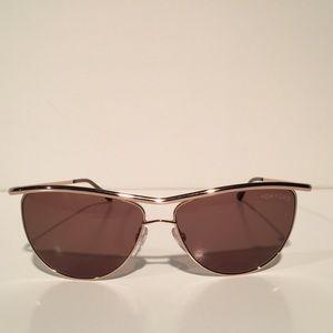 Tom Ford Accessories - Tom Ford Helena Gold Oval Sunglasses NIB