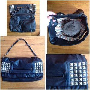 Handbags - VEGAN LEATHER HANDBAG W/STUDDING DETAIL 👜