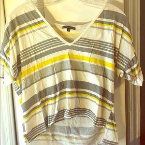Yellow striped tee