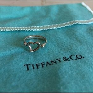 Tiffany & Co. Jewelry - Tiffany & Co Elsa Peretti Open Heart Ring size 4.5