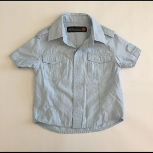 Sovereign Code Other - Blue white pinstriped shirt sleeve button down 2T