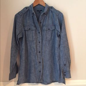 Gap Chambray Button Shirt