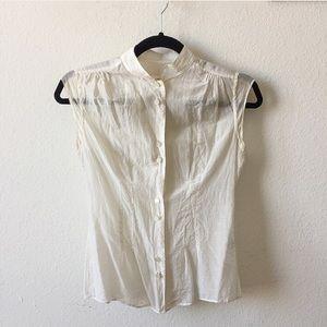 Isaac Mizrahi Tops - Cream Lightweight Cap Sleeve Blouse