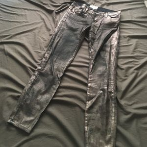 Current Elliott Jeans The Stiletto Silver Size 27