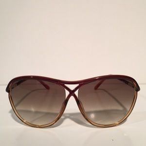 Tom Ford Accessories - Tom Ford Tabitha Brown Oval Sunglasses NIB