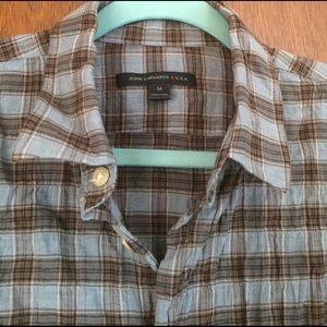 John Varvatos Other - John Varvatos plaid mens shirts preowned size M