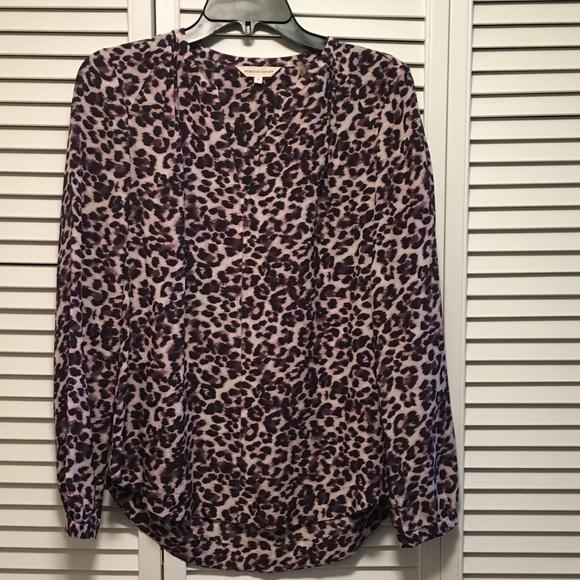22b21196a0bb2 Rebecca Taylor Leopard Print Blouse! Size 4. M 58c855334127d0dcbb01d1f7