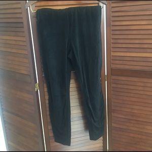 Puls size faux suede leggings
