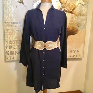 Hartford Dresses & Skirts - Hartford Linen Buttoned Shirt Dress