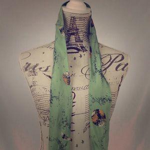 "Real silk ""tie"" women's scarf (thin)"