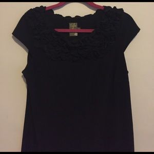 LBD by Taylor with petal accentuated neckline