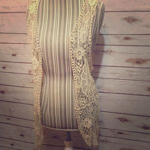 NWT Crochet Vest