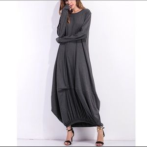 Dresses & Skirts - Gray cotton loose dress