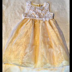 💐GYMBOREE gorgeous yellow dress size 5 GUC🌼