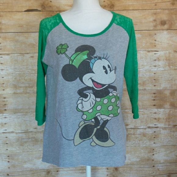 53ab1b7a2 Disney Tops | Minnie Mouse Shamrock Tee | Poshmark