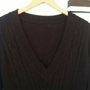 Long black sweater medium warm