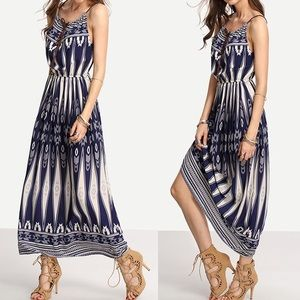 Dresses & Skirts - Blue/white maxi dress