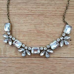 J. Crew Crystal Cluster Necklace