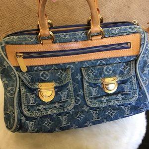 Louis Vuitton Handbags - Louis Vuitton speedy neo denim handbag