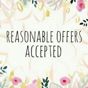 Reasonable offers accepted