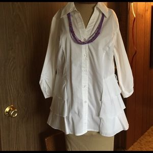 Beautiful White Blouse size M by Cato