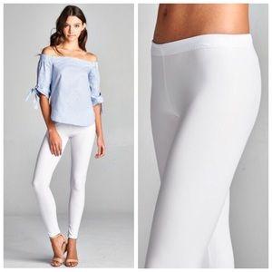 White Oil Slick Vegan Leather Legging S M L