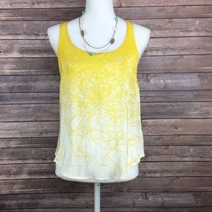 Forever 21 Tops - Yellow lines tank