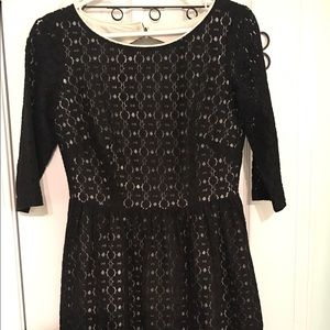 Lilly Pulitzer Black Lace Dress