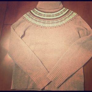 Fair isle turtle neck sweater