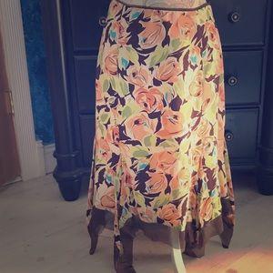 Nicole Miller Dresses & Skirts - NICOLE MILLER FLORAL HANDKERCHIEF SKIRT 4
