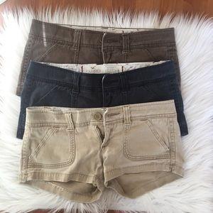 Bundle of 3 Hollister Shorts