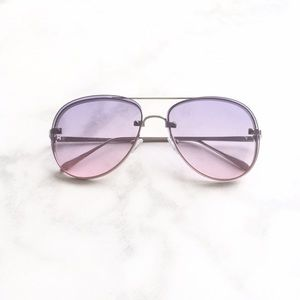 Style Link Miami Accessories - ▫️NEW▫️TWO TONED PURPLE AVIATOR SUNGLASSES