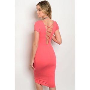 Dresses & Skirts - New coral lattice dress