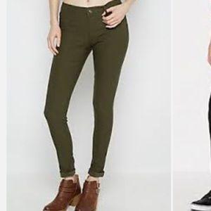 Hollister Pants - NWT Olive green legging stretch pants