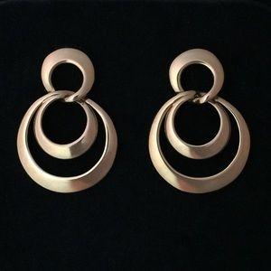 Jewelry - Vintage Gold Multi Loop Pierced Earrings