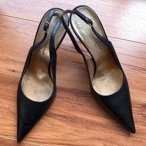 Dolce & Gabbana Shoes - Dolce & Gabbana Black Leather Stiletto Pumps 36.5