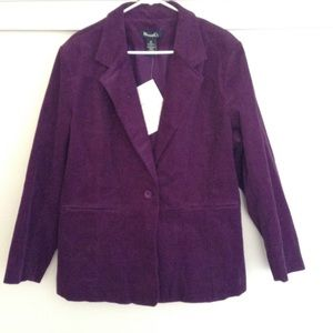DENIM & CO Jackets & Blazers - Women's DENIM & CO CORDUROY BLAZER JACKET