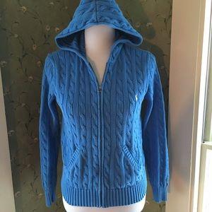 Ralph Lauren Sweaters - Ralph Lauren Cable Knit Hoodie.