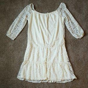 SOLD Cream Lace Dress