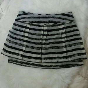 GAP Dresses & Skirts - Gap Raw Edges Double Layer Mini Skirt