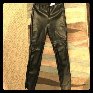 NEW with tags H & M faux leather pants hot