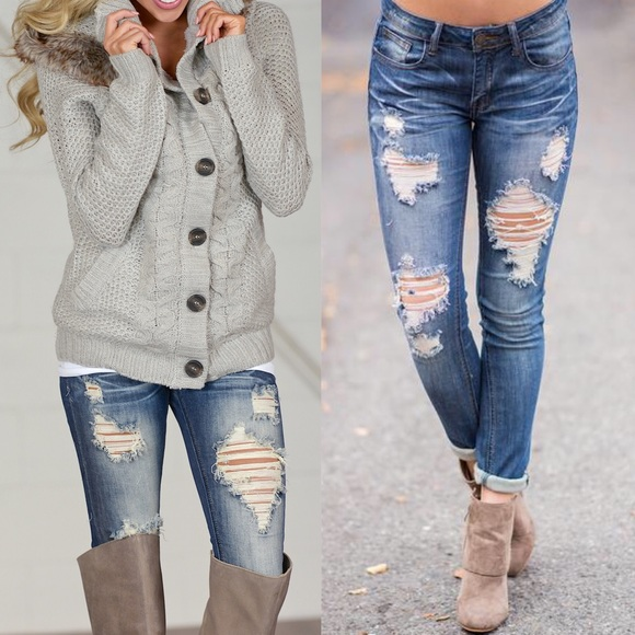 Jeans - 🚨1 HR SALE🚨ALUNA washed out skinny - MED DARK