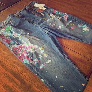 Melissa McCarthy Pants - Melissa McCarthy/Seven Jeans Painted Jeans