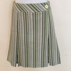 Strip A line cotton skirt