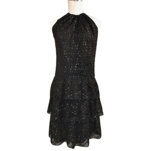Trina Turk Dresses & Skirts - Trina Turk Sz 0 Black 100% Silk Tiered Dress