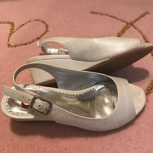 GB Girls  Other - White Wedge Sandals  (size 13)
